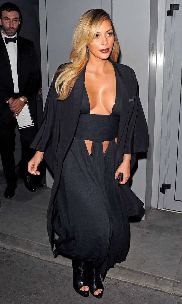 Kim Kardashian Takes The Plunge In Hot-Off-The-Catwalk Givenchy Dress