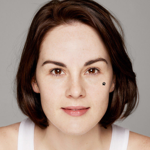 Downton Abbey's Michelle Dockery Goes Make Up Free For Charity