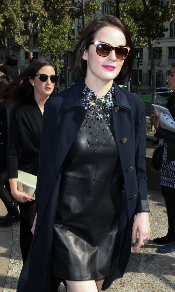 Downton Abbey's Michelle Dockery Leathers Up For Miu Miu SS14