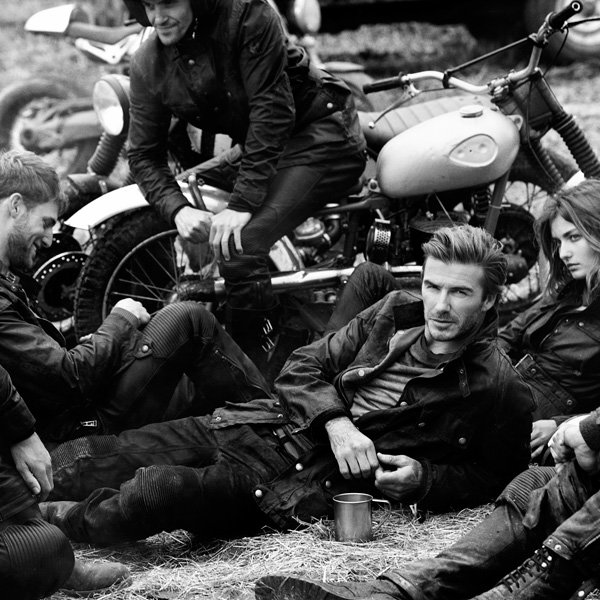 David Beckham Dons His Leathers For Belstaff