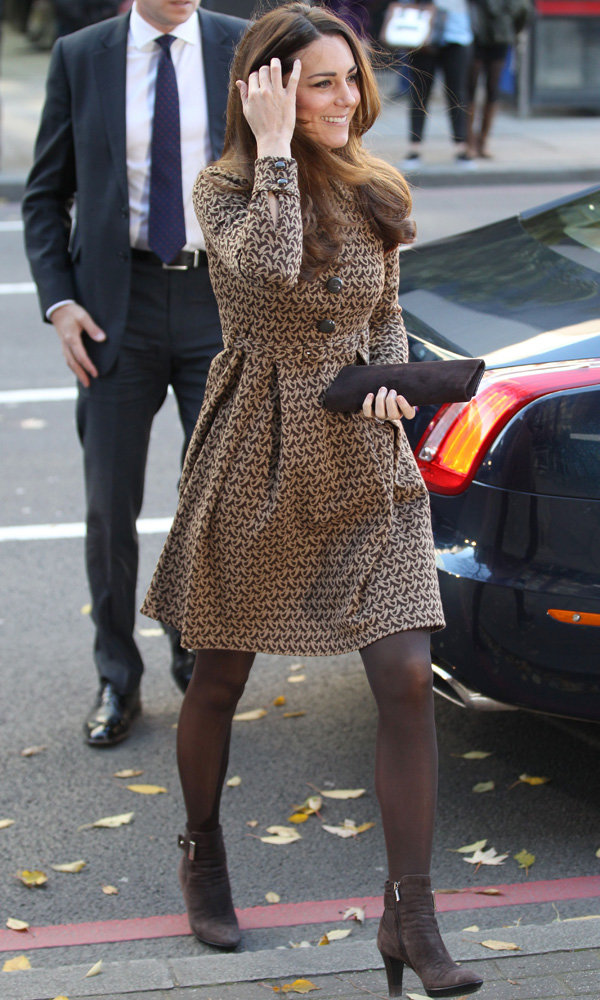 Kate Middleton Wears Her Trusty Orla Kiely Dress Coat For Charity Visit