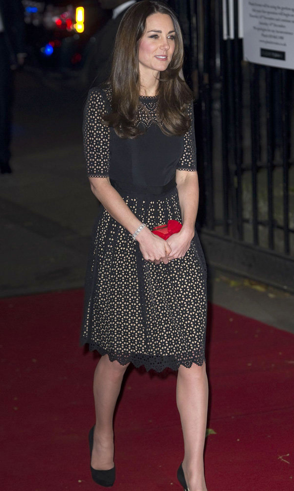 Kate Middleton Steps Out In Temperley For SportsAid Ball