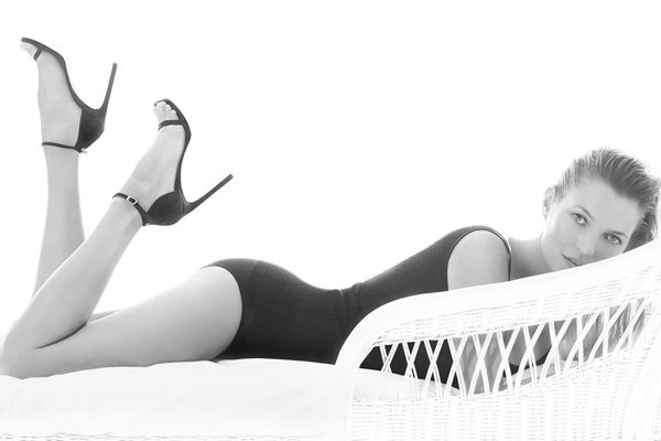 Kate Moss Reveals (Almost) All For Stuart Weitzman