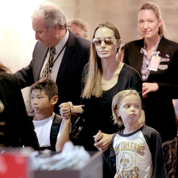 Angelina Jolie And Brad Pitt Head To The High Street For Their Shopping