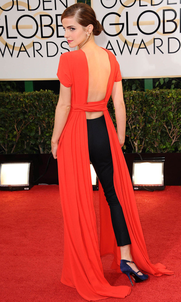 Emma Watson Makes A Bold Fashion Statement On The Golden Globes 2014 Red Carpet
