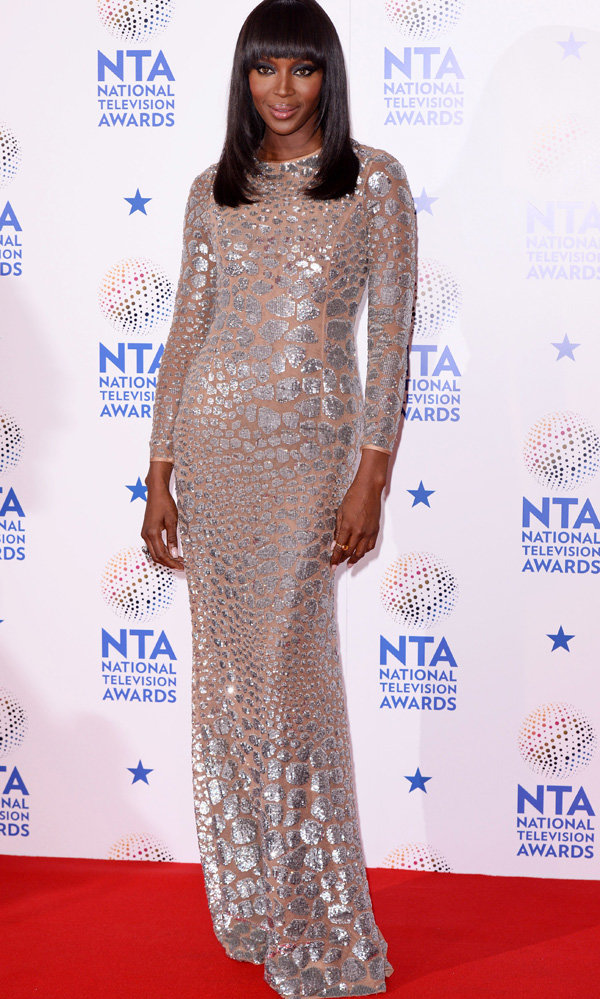 Naomi Campbell Brings The Glamour To The National Television Awards