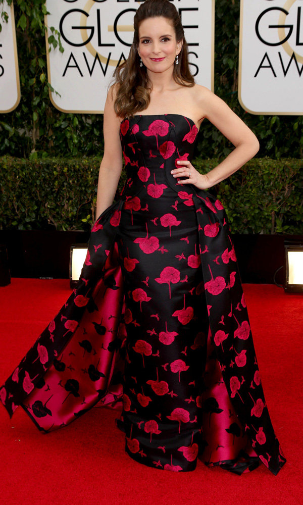 Carolina Herrera's Hat Trick For Tina Fey At The Golden Globes 2014
