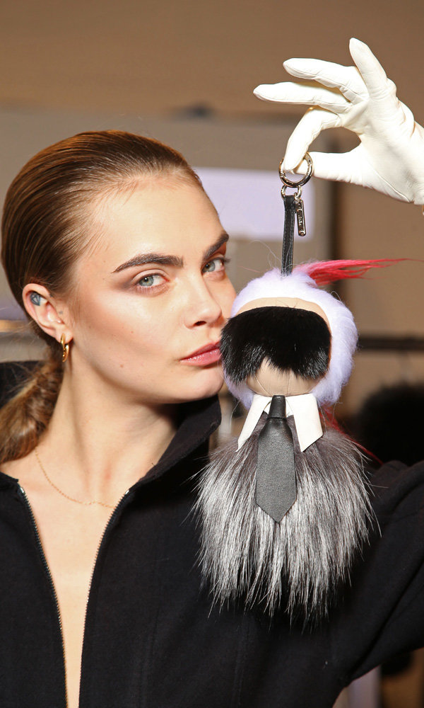 Karl Lagerfeld Camera Doll Steals The Show At Fendi