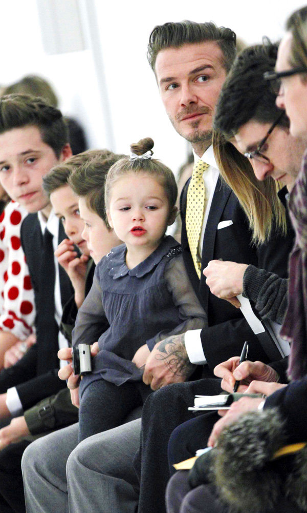 Victoria Beckham Has The Whole Family Sitting FROW At Her NYFW Show