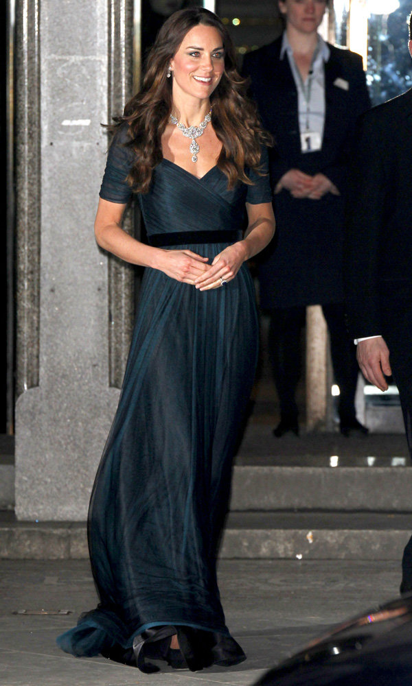 Kate Middleton Wears Jenny Packham – And The Queen's Diamonds – To Charity Gala