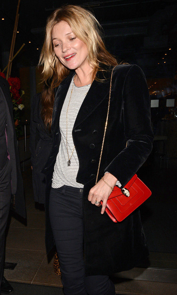 Kate Moss Gets Us Excited For Her Topshop Collection As She Dines Out With Philip Green