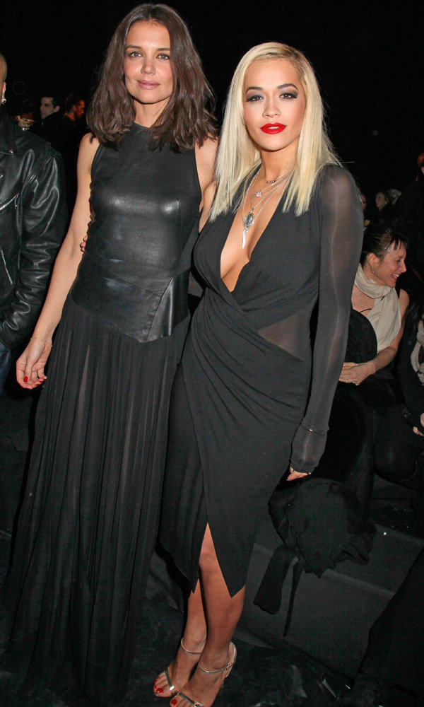 Rita Ora Finds A New FROW BFF In Katie Holmes
