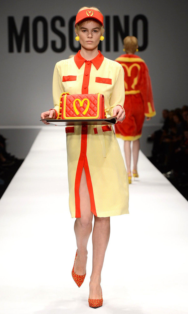 Moschino Makes A Statement With McDonald's Inspired Collection