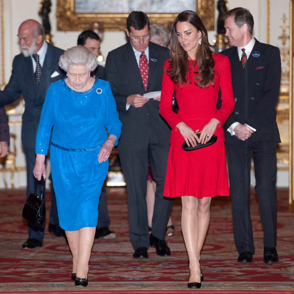 Kate Middleton Stuns In Alexander McQueen At Buckingham Palace
