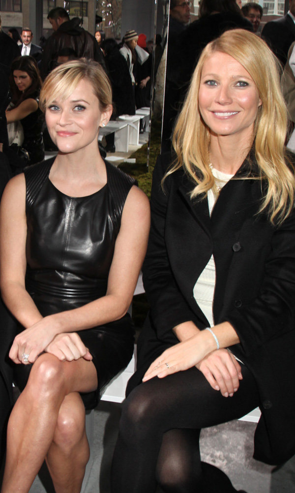 Gwyneth Paltrow And Reese Witherspoon Pull Their Best Duck Faces On The FROW