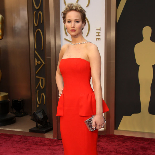 Jennifer Lawrence Is Ravishing In Red As She Dons Dior For The Oscars 2014