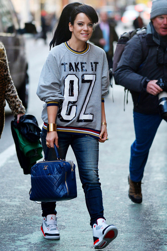 Lily Allen Revisits Her Old Sneaker Style In New York