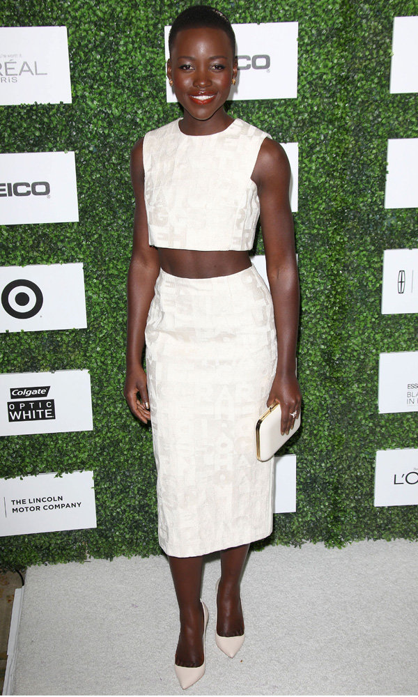 White Crop Tops And Pencil Skirts – The A-List Trend That's Everywhere