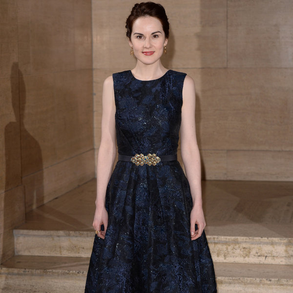 Michelle Dockery Works Lady Mary Glam At The Changing Faces Gala
