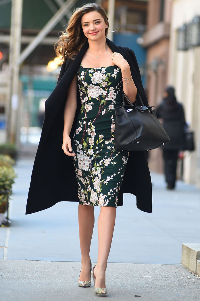 Miranda Kerr Gives A Lesson In Transitional Dressing