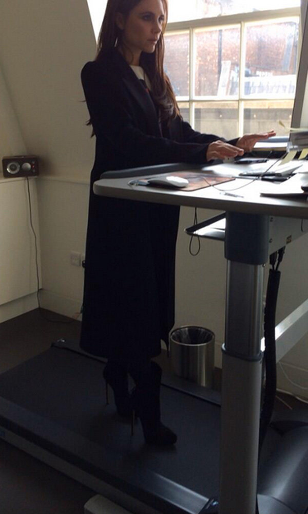 Victoria Beckham Shows Off Her Multitasking Talents On A Treadmill Desk