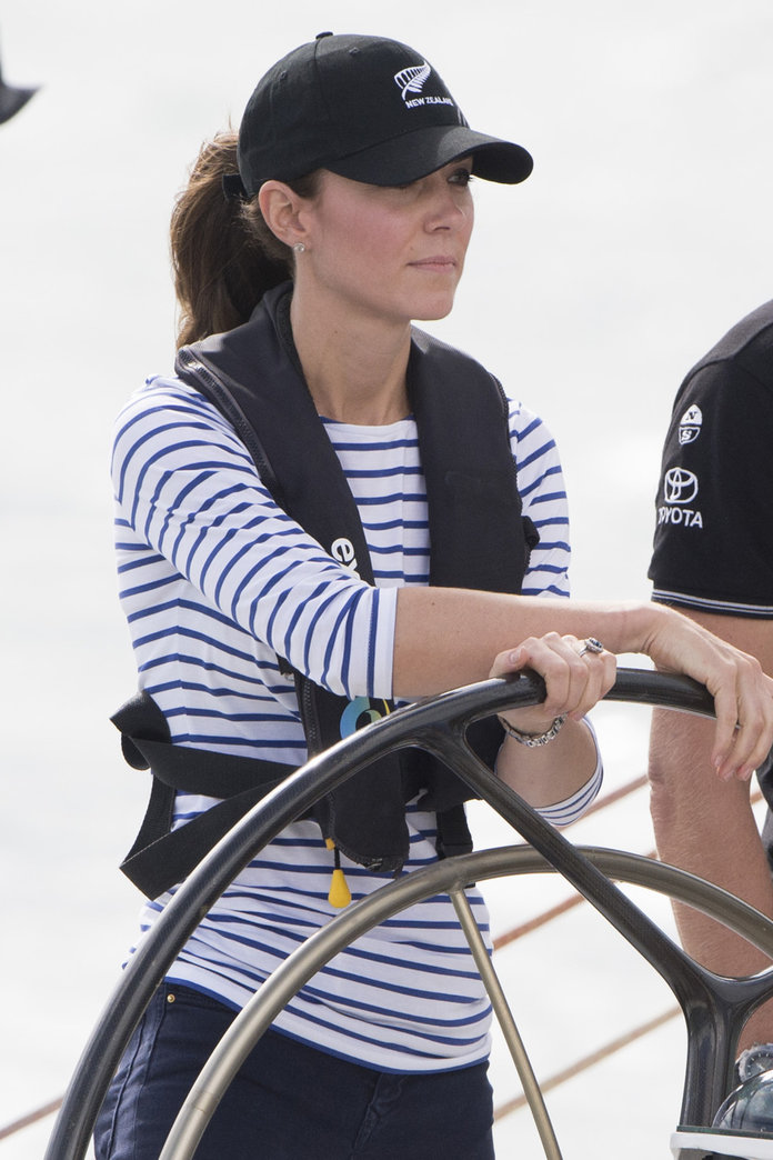 Kate Middleton Does Nautical Dressing in New Zealand