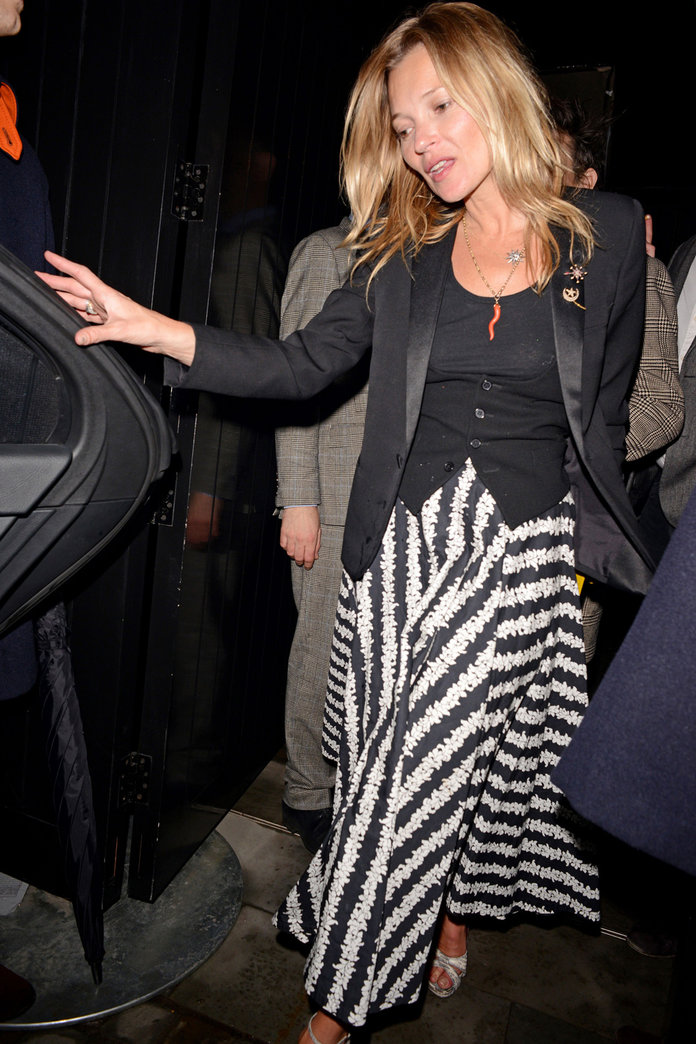 Kate Moss Parties With Lily Allen And Jamie Hince In London