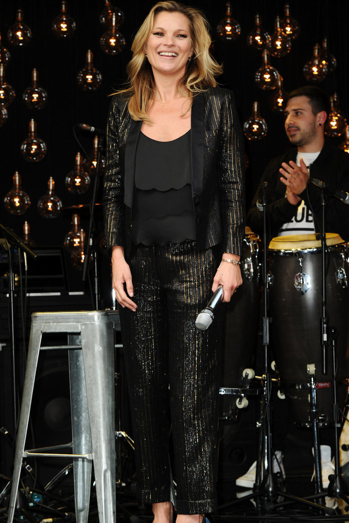 Kate Moss Parties With Her Celeb Pals To Celebrate Her Topshop Launch