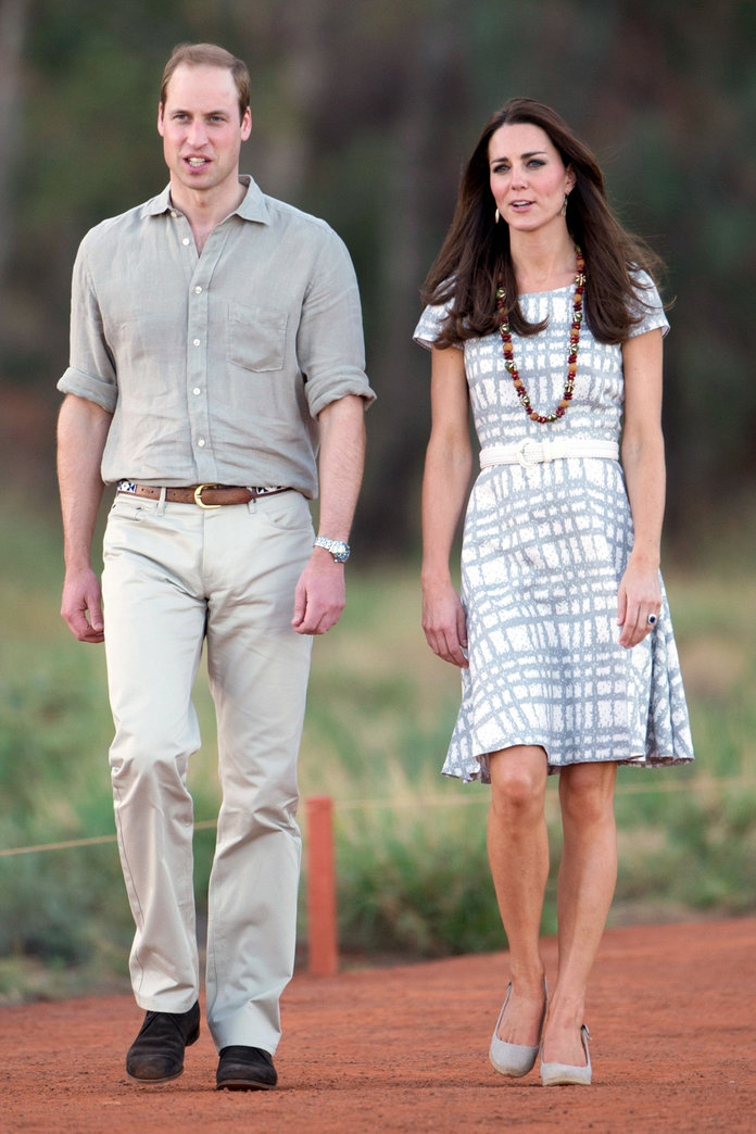 Kate Middleton Tones Down The Loud Colours For A Trip To The Outback