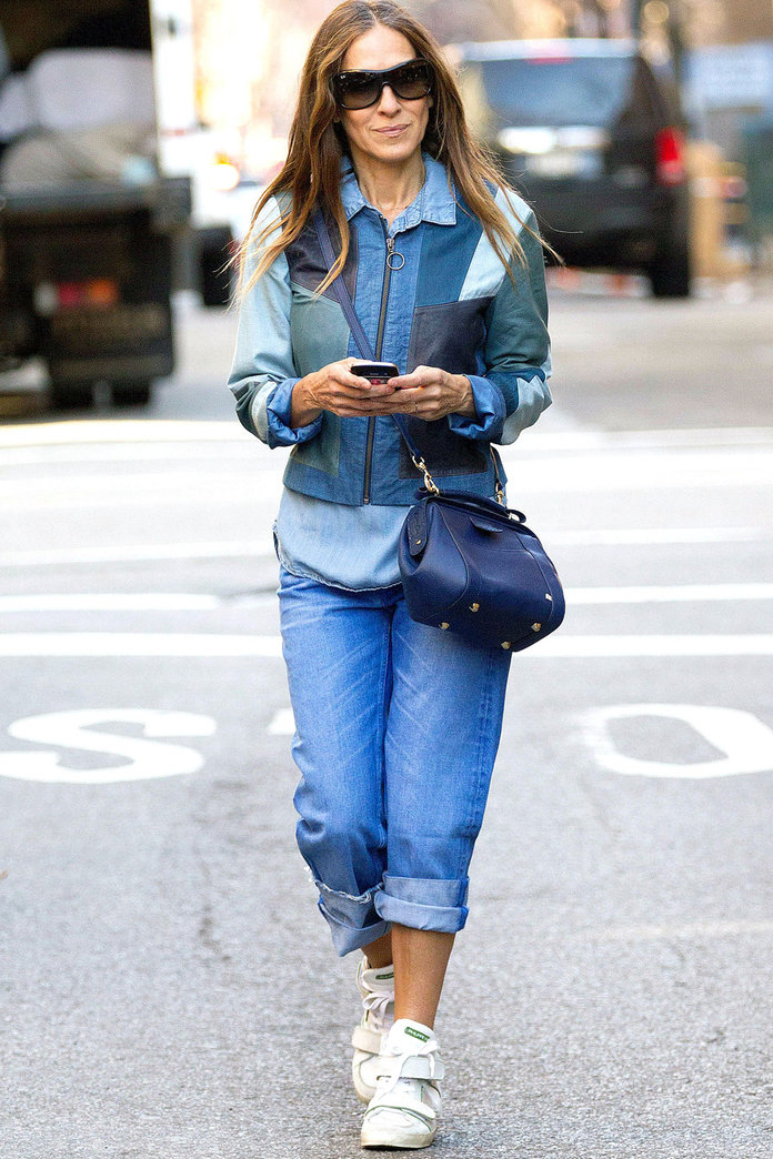 Sarah Jessica Parker Tries Triple Denim In New York