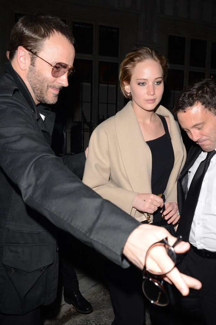 Jennifer Lawrence Sparks Engagement Rumours On A Night Out With Nicholas Hoult And Tom Ford