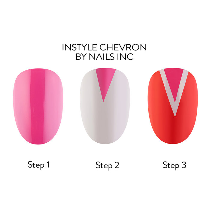 InStyle Chevron by Nails Inc - Nail Art How-To