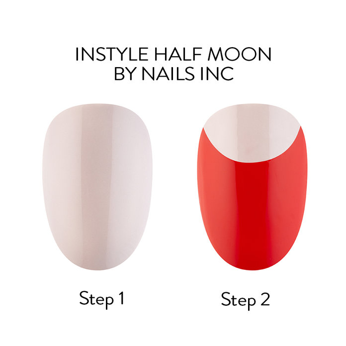 InStyle Half Moon By Nails Inc - Nail Art How-To