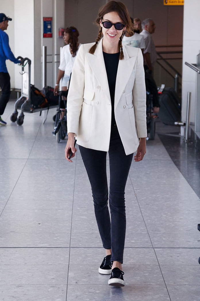Alexa Chung Nails Summer Airport Dressing