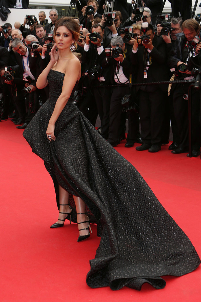 Cheryl Cole Makes A Dramatic Entrance At Cannes 2014