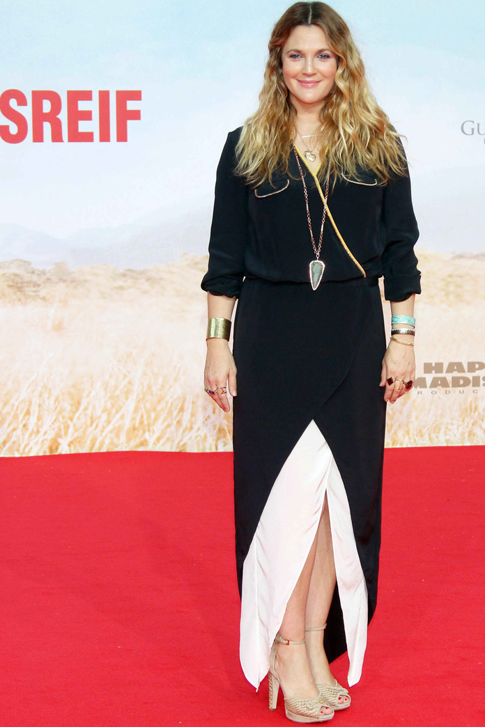 Drew Barrymore Makes Her Red Carpet Return After The Birth Of Baby Frankie