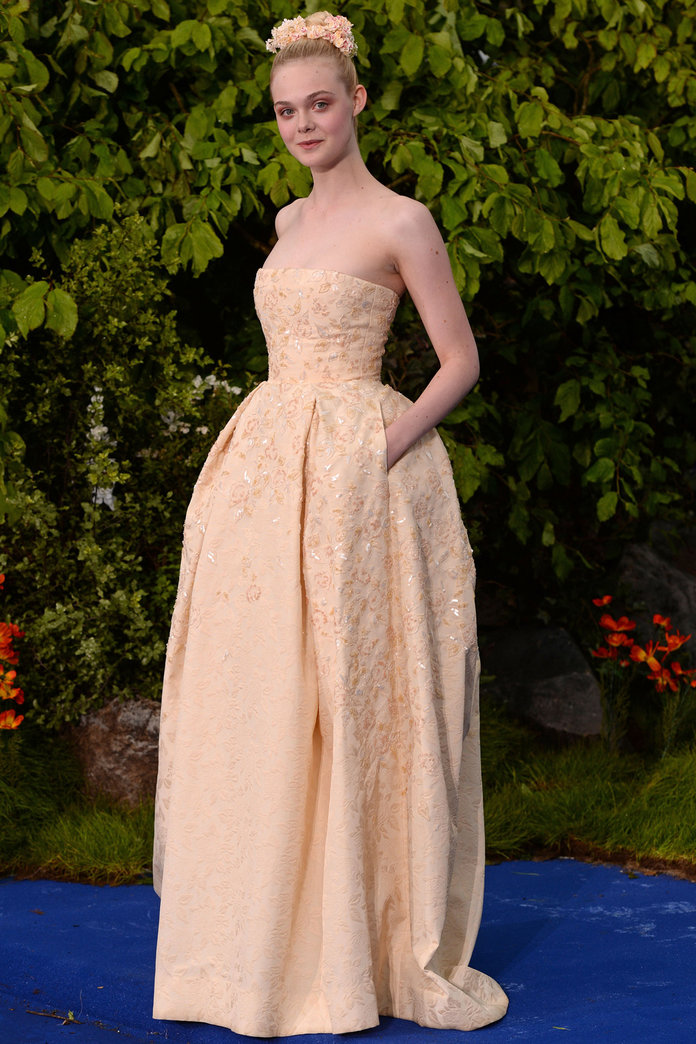 Elle Fanning Continues To Dress Just Like A Princess