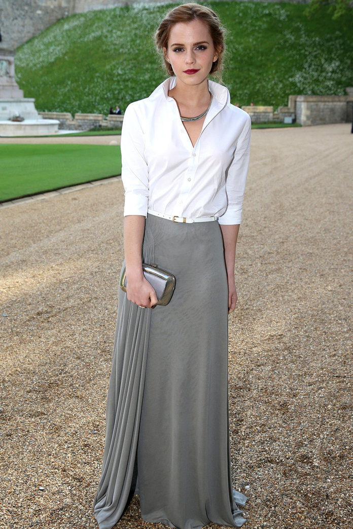 Emma Watson Channels Old School Glamour In Ralph Lauren
