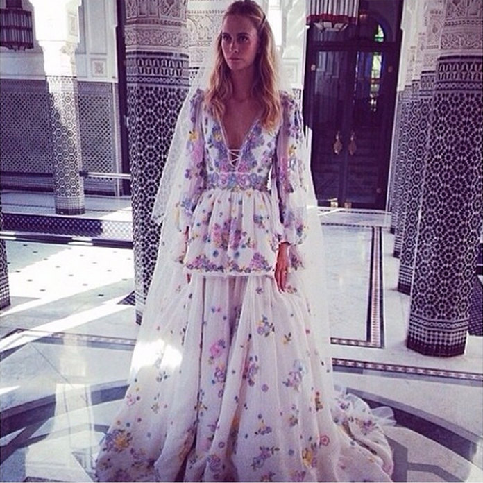 Poppy Delevingne Wears Pucci For Her Second Amazing Wedding In Marrakesh