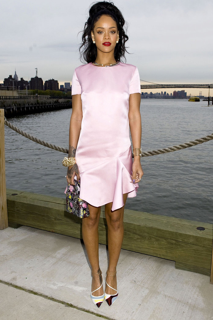 Rihanna Does Demure At The Dior Cruise Show