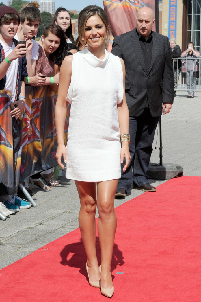 Cheryl Cole Stuns In White Stella McCartney Shift At Newcastle Auditions
