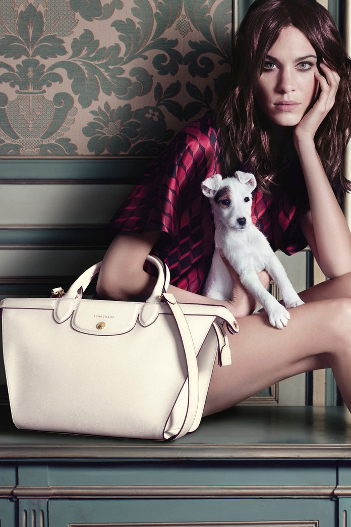 Alexa Chung Reprises Her Role As The Face Of Longchamp