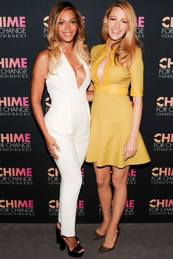 Blake Lively And Beyonce Cosy Up At Gucci's Chime For Change Event