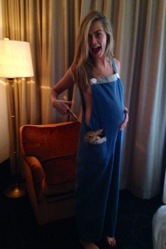 Cara Delevingne Shows Off A Baby Bump In Maternity Wear