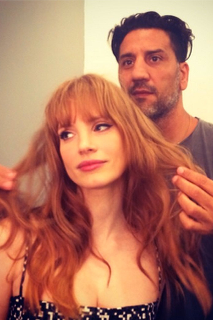 Jessica Chastain Shows Off Her New Fringe