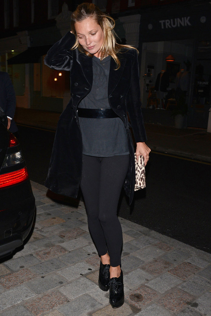 Kate Moss Turns Gym Wear Into Party Wear For A Night Out In London