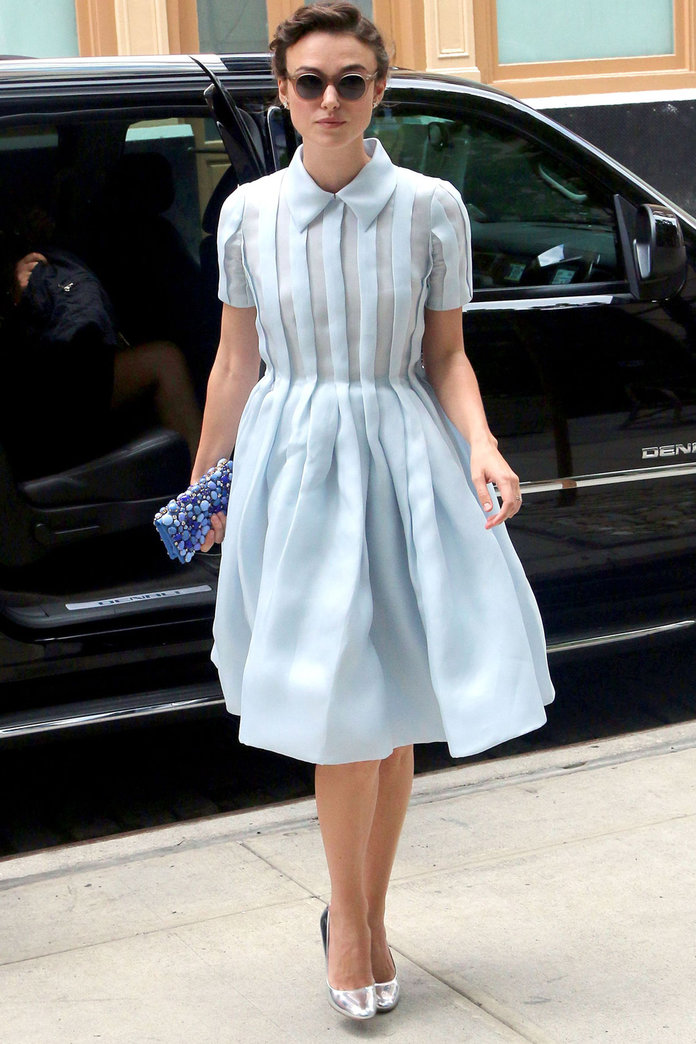Keira Knightley Does 1940s Chic In New York