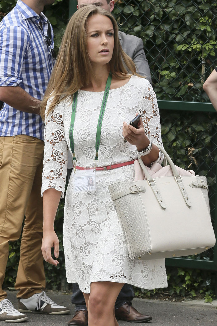 Kim Sears Arrives At Wimbledon 2014