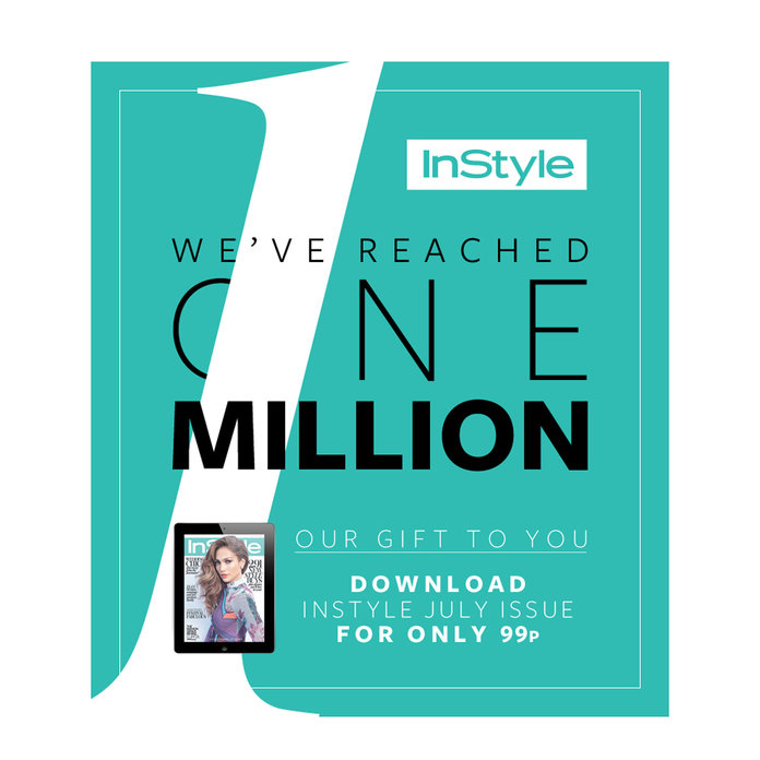 Celebrate 1 Million Facebook Fans! Download InStyle For Just 99p