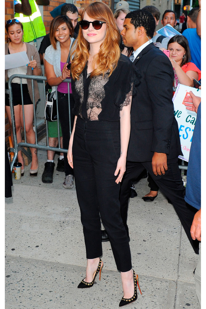 Emma Stone Does A Day/Night Outfit Swap